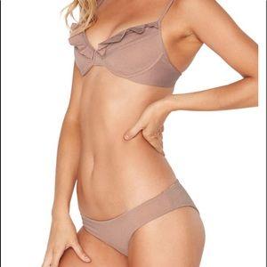 L SPACE* Priscilla Metallic Underwire Bikini Top